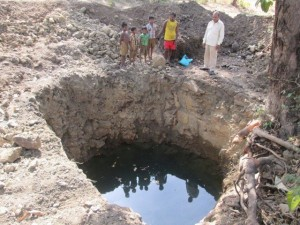 Nandani Farmer Ravindra Gaikar's well excavation to provide irrigation during non-monsoon season. $150 for a dam or well could enable another farm to produce all year round.